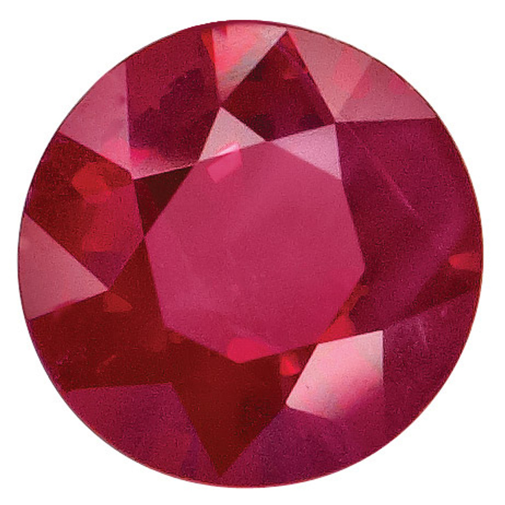 Ruby 1.75mm Round  Gemstone, MPN: RU-0175-RDF-A