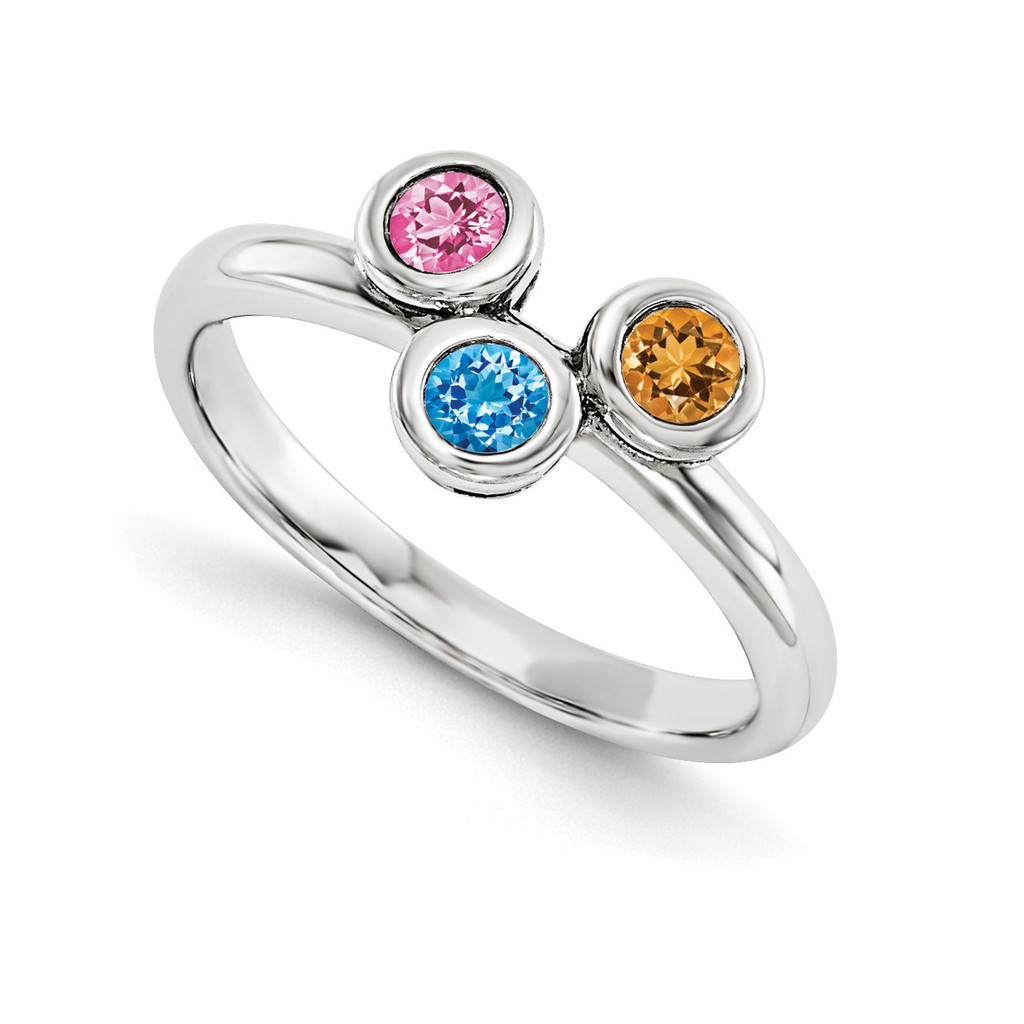 14K White Gold Genuine Ring Family, MPN: WM1441-3GY