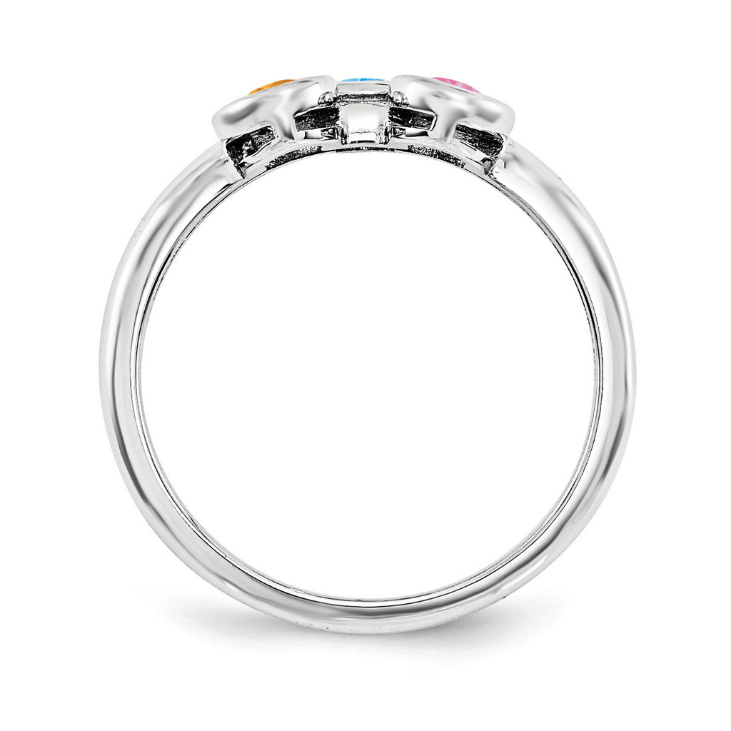14K White Gold Genuine Ring Family WM1441-3GY