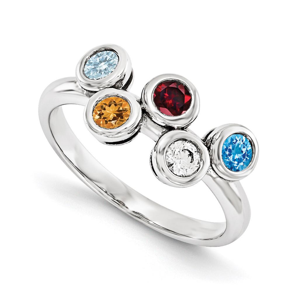 14K White Gold Genuine Ring Family, MPN: WM1441-5GY
