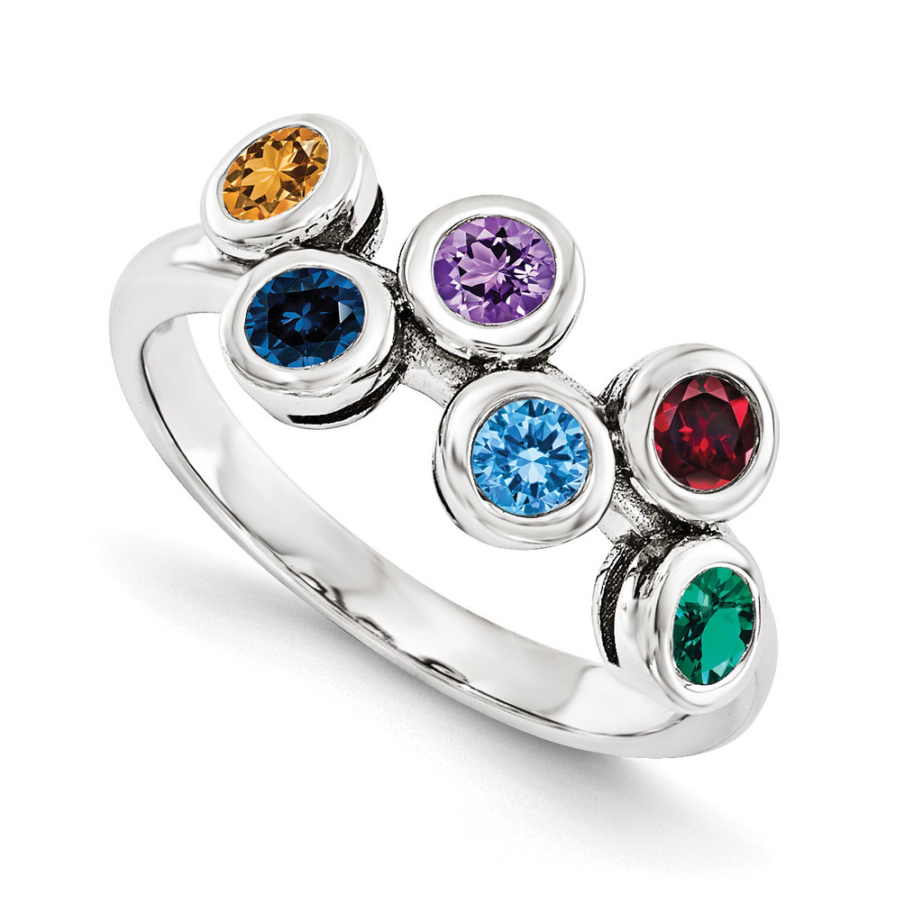 14K White Gold Genuine Ring Family, MPN: WM1441-6GY