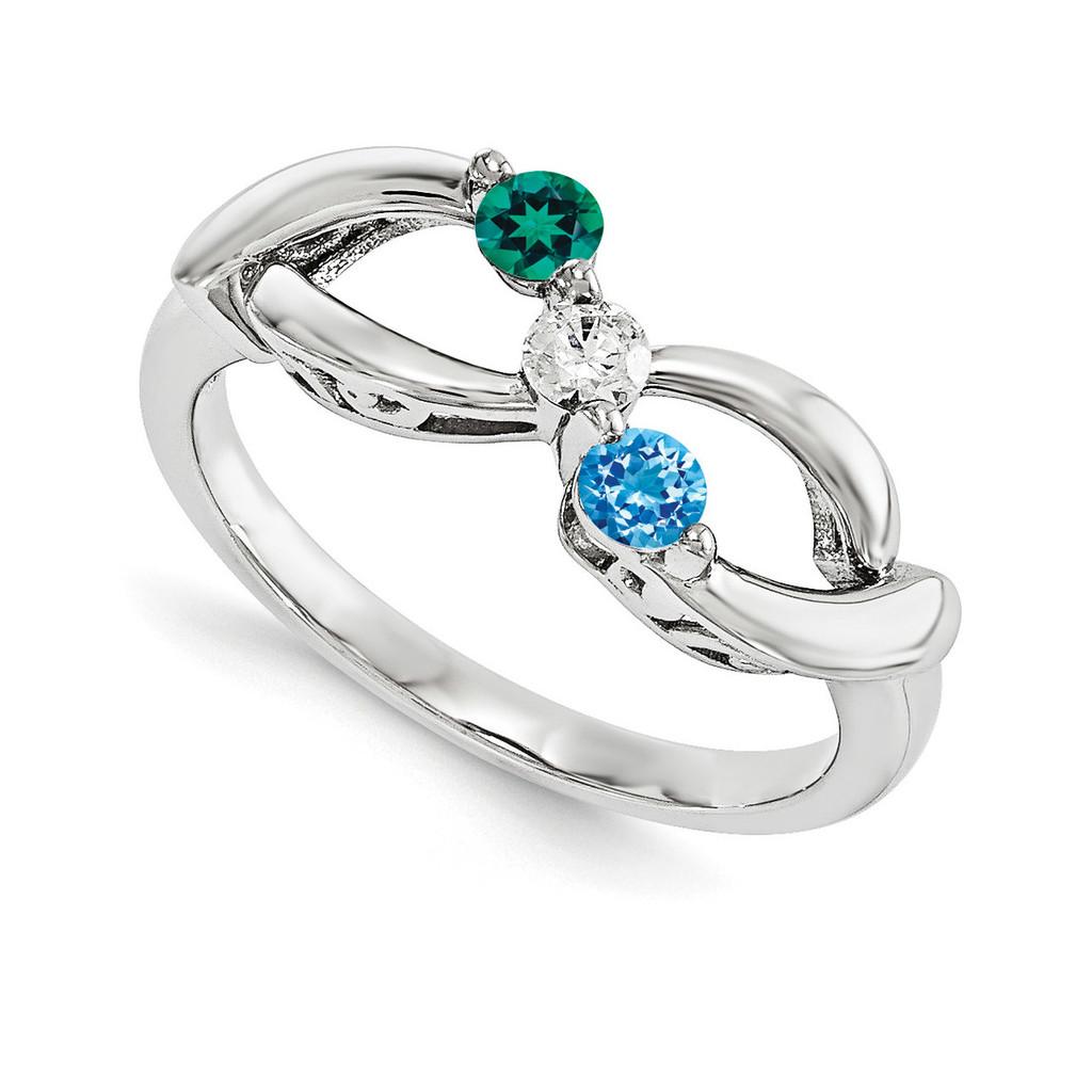 14k White Gold Diamond Ring Family, MPN: WM1446-3AAA