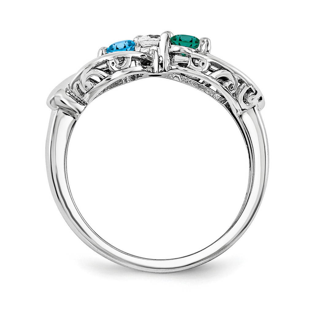 14k White Gold Diamond Ring Family WM1446-3AAA