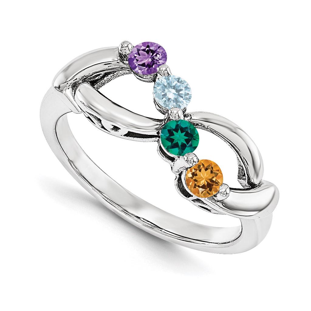 14k White Gold Diamond Ring Family, MPN: WM1446-4AAA