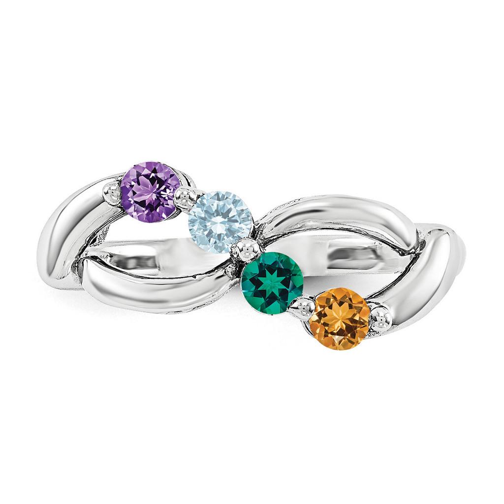 14k White Gold Diamond Ring Family WM1446-4AAA