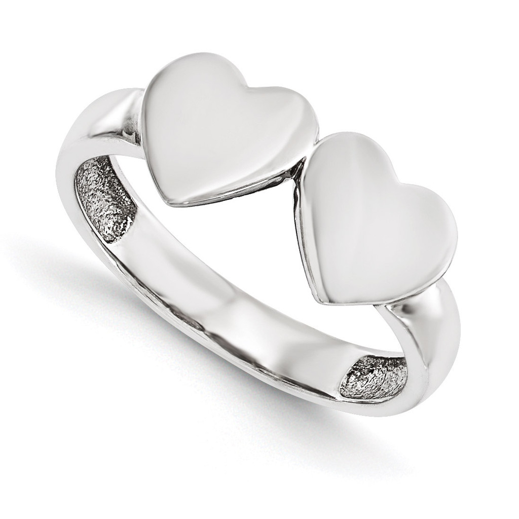 Signet Mounting Heart 14k White Gold Raw Casting Ring, MPN: WM1906-2