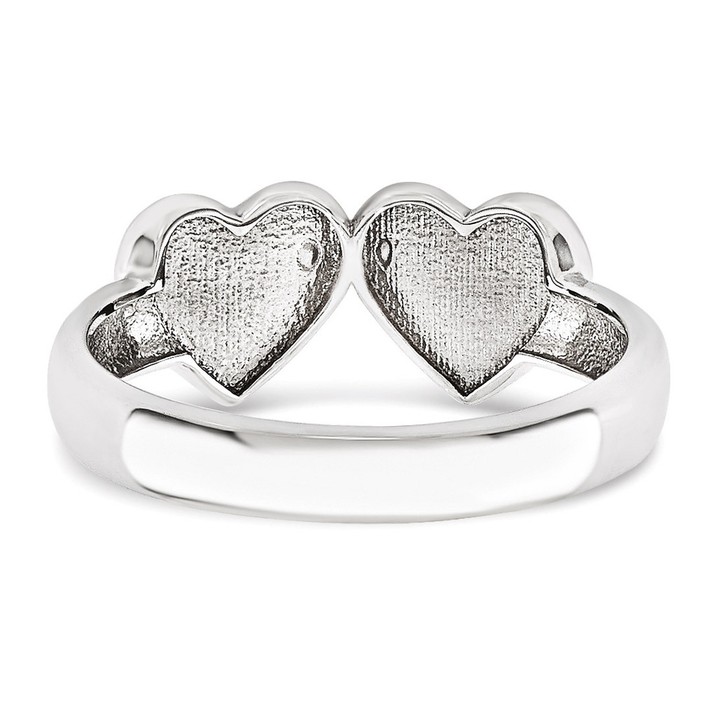 Signet Mounting Heart 14k White Gold Raw Casting Ring WM1906-2