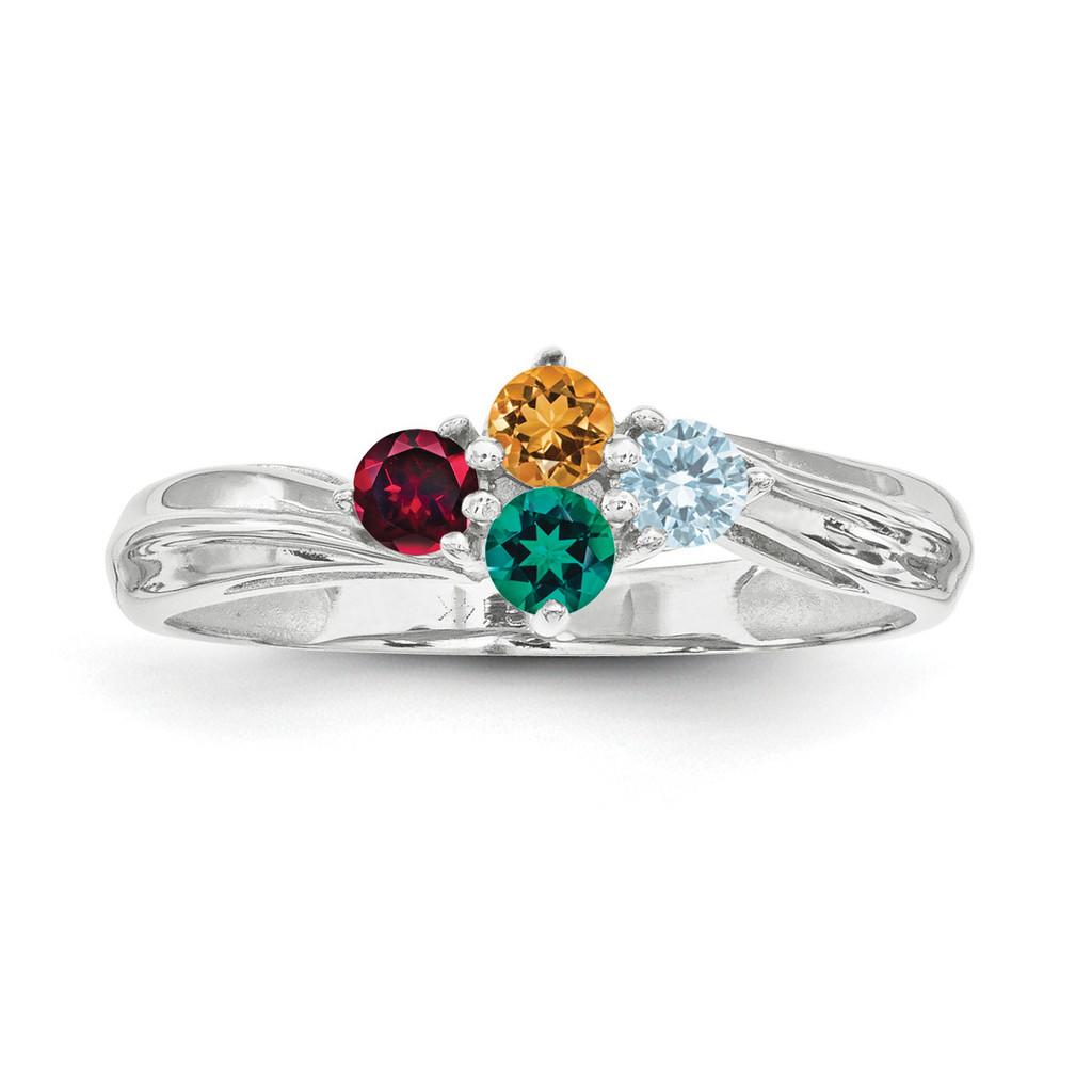 14K White Gold Ring Family & Mother MPN: XMR10/4WGY, UPC: 883957151328