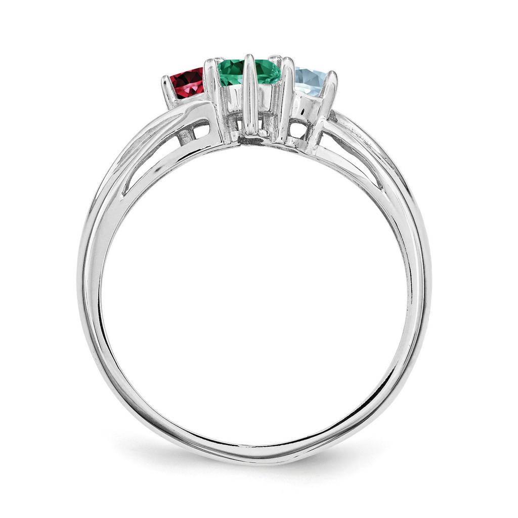 14K White Gold Ring Family & Mother XMR10/4WGY