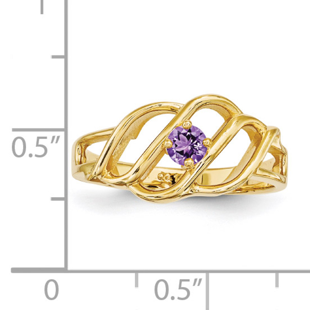 14k Yellow Gold 2.5mm Synthetic Ring Family & Mother XMR5/1SY