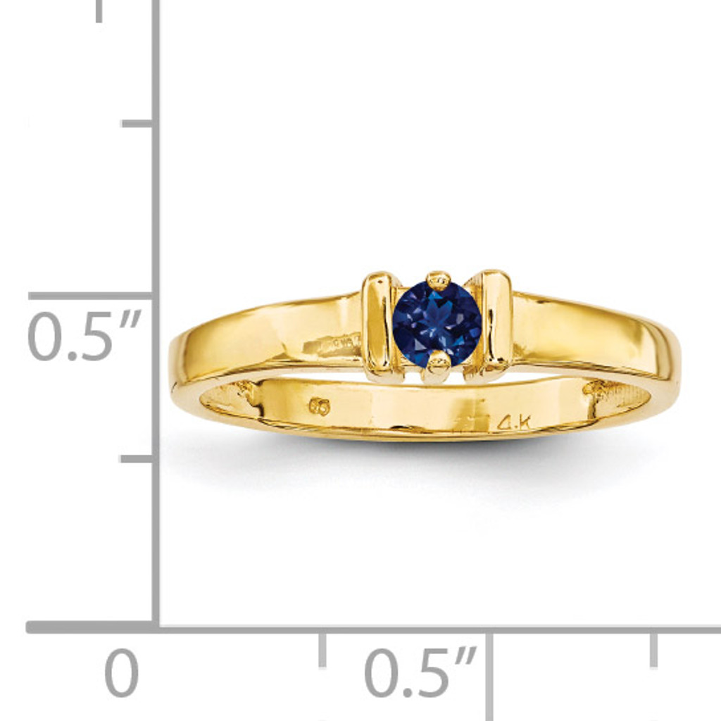 1 Stone Mother's Ring 14k Yellow Gold Genuine XMR6/1GY