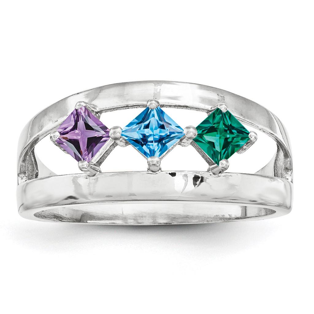 14K White Gold Genuine Ring Family & Mother MPN: XMR63/3WGY, UPC: 191101539299