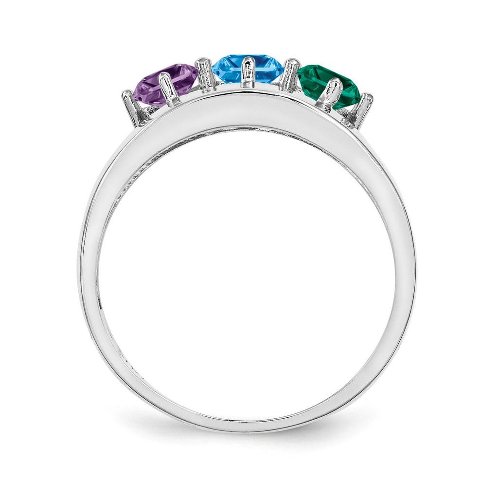 14K White Gold Genuine Ring Family & Mother XMR63/3WGY