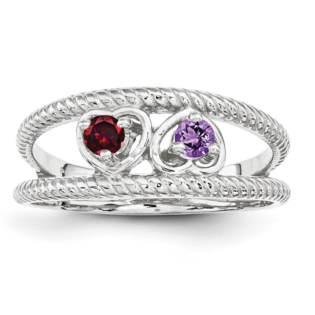 14K White Gold Genuine Ring Family & Mother MPN: XMR65/2WGY, UPC: 191101539435