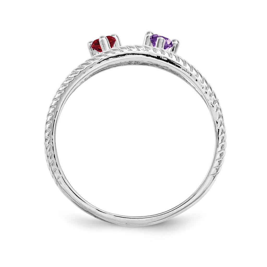 14K White Gold Genuine Ring Family & Mother XMR65/2WGY
