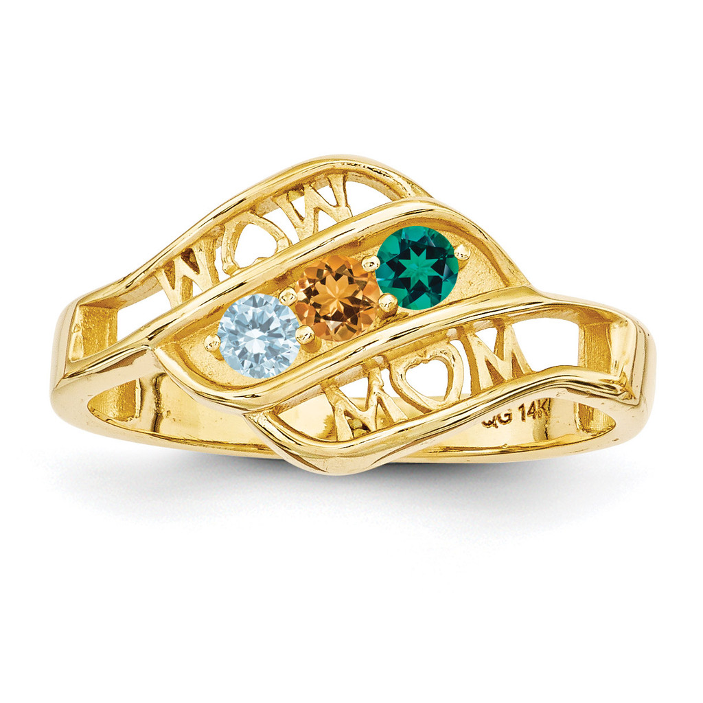 14k Yellow Gold Genuine Ring Family & Mother MPN: XMR66/3GY, UPC: 191101539572