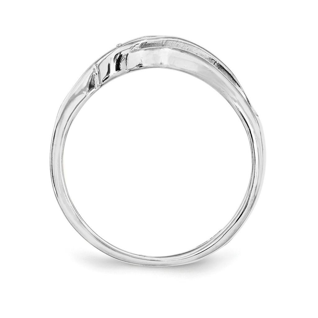 14K White Gold Genuine Ring Family & Mother XMR66/3WGY