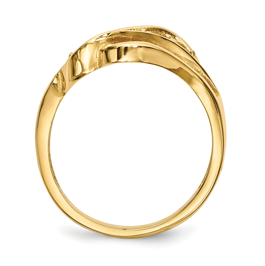14k Yellow Gold Genuine Ring Family & Mother XMR66/5GY
