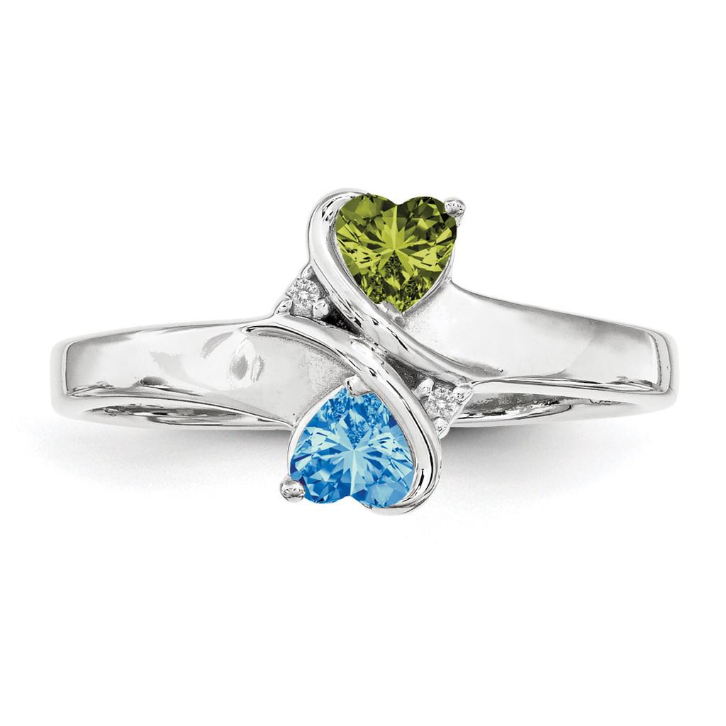 14K White Gold Genuine Ring Family & Mother MPN: XMR70/2WGY, UPC: 191101539893