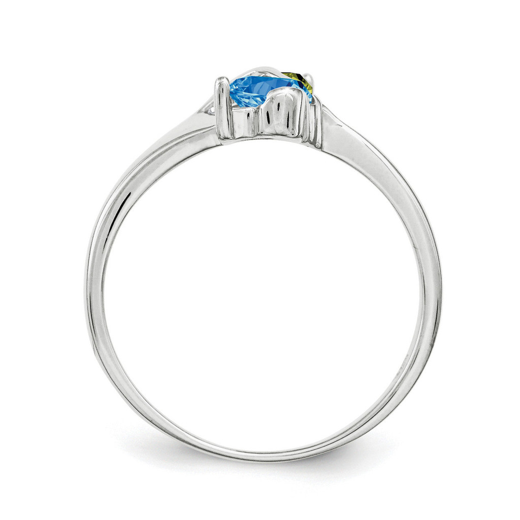 14K White Gold Genuine Ring Family & Mother XMR70/2WGY