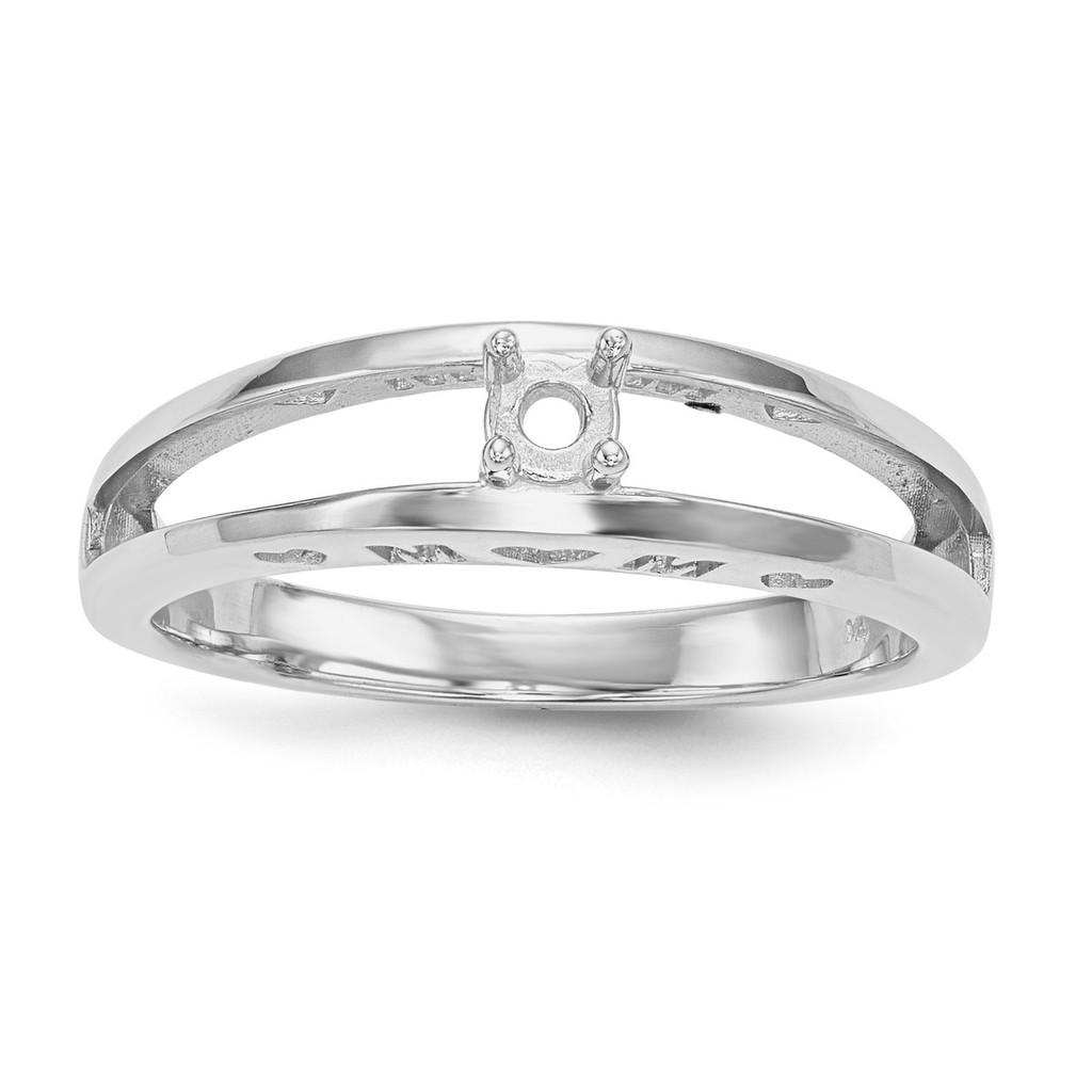 14K White Gold Ring Mounting Family & Mother MPN: XMR71/1W-7, UPC: 191101539954