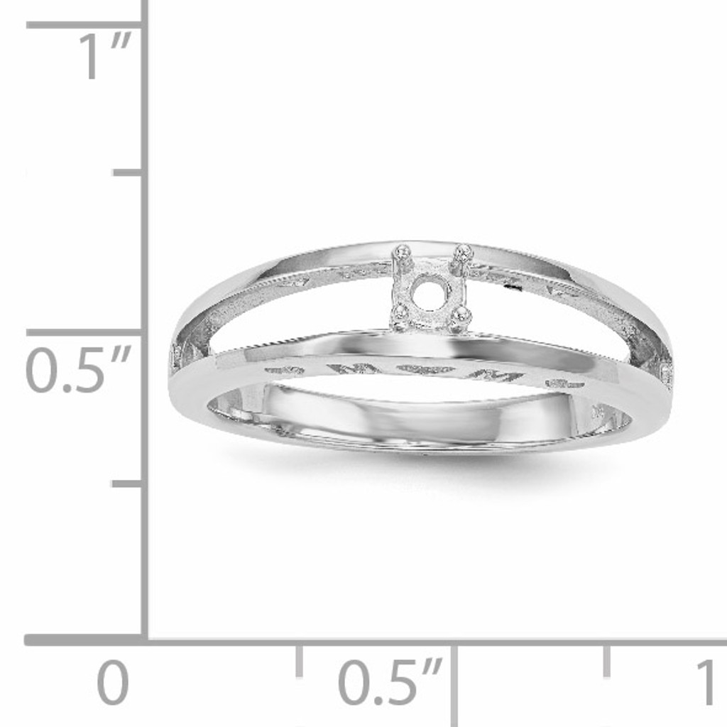 14K White Gold Ring Mounting Family & Mother XMR71/1W-7