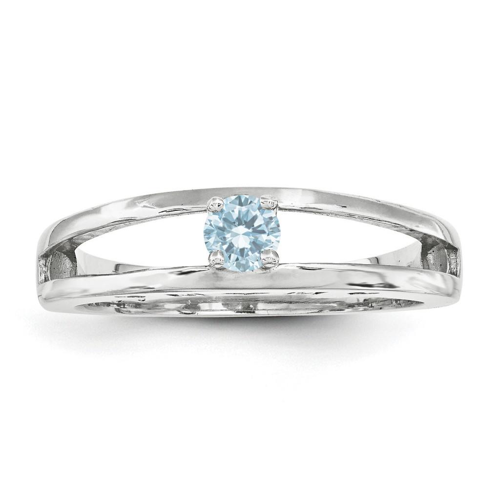 14K White Gold 3mm Genuine Ring Family & Mother MPN: XMR71/1WGY, UPC: 191101539961