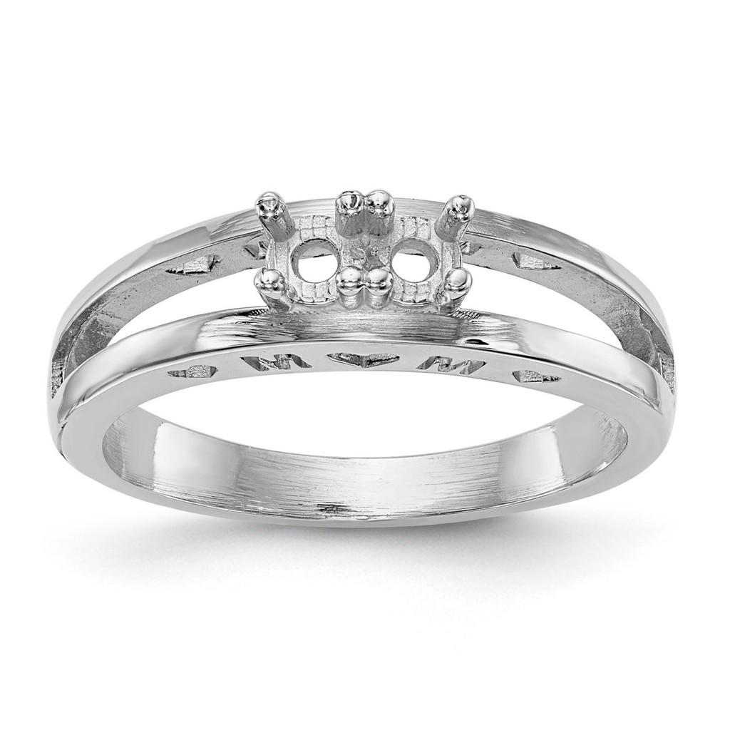 14K White Gold Ring Mounting Family & Mother MPN: XMR71/2W-7, UPC: 191101540028