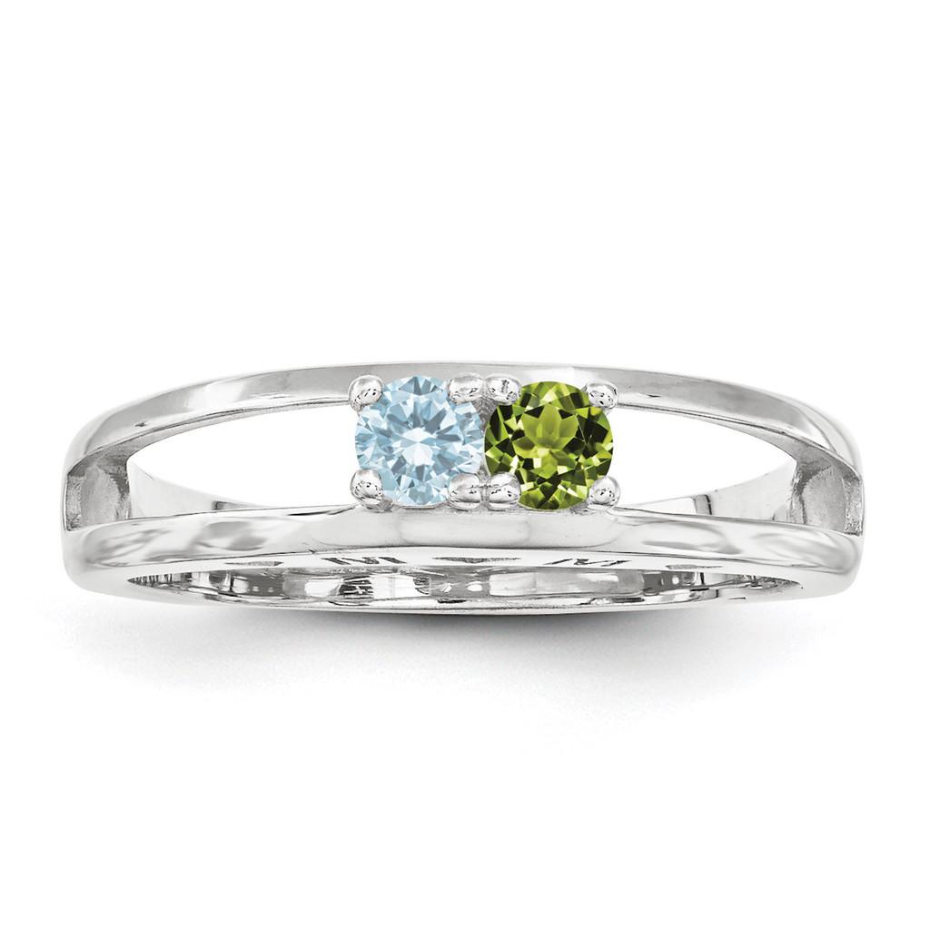 14K White Gold 3mm Genuine Ring Family & Mother MPN: XMR71/2WGY, UPC: 191101540035