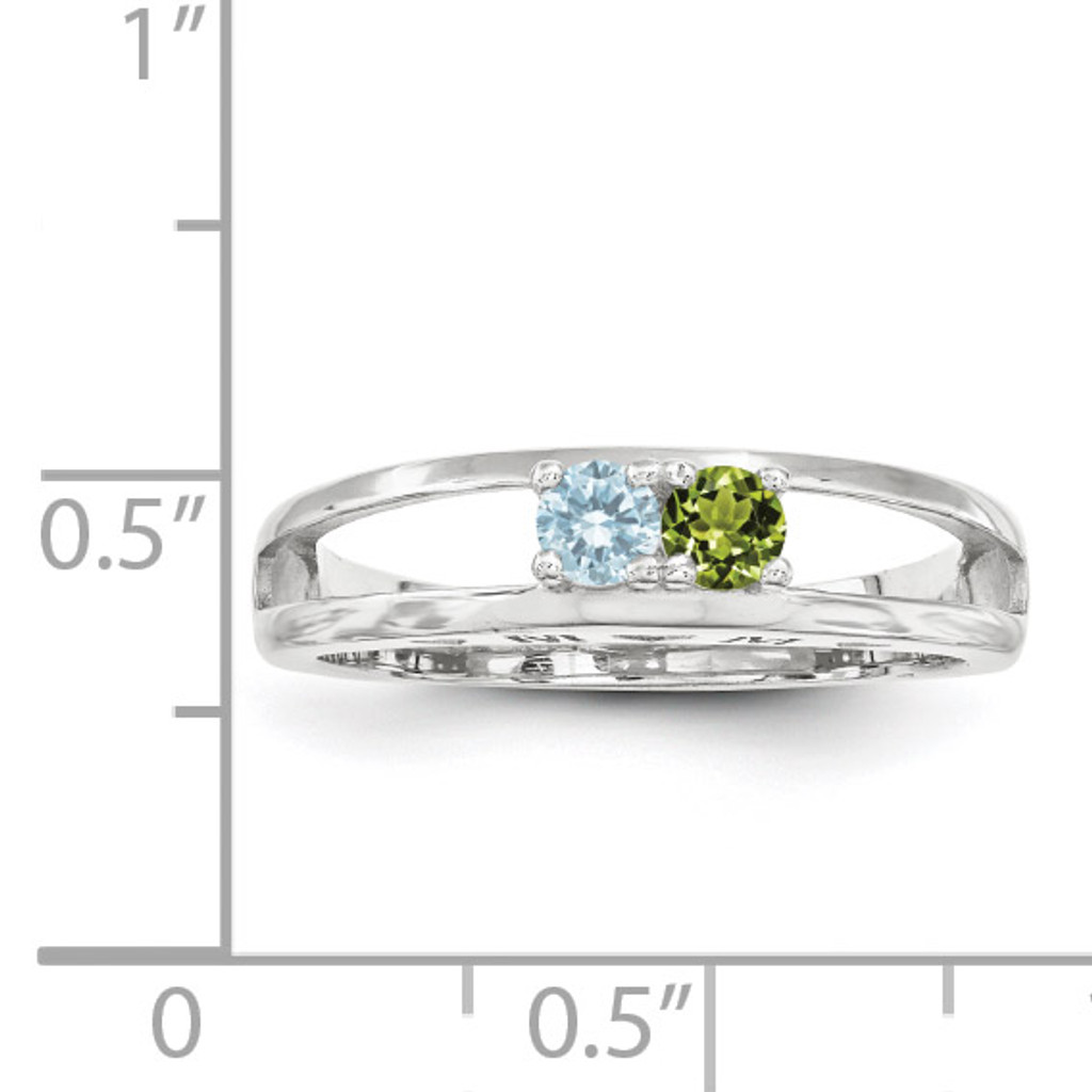 14K White Gold 3mm Genuine Ring Family & Mother XMR71/2WGY