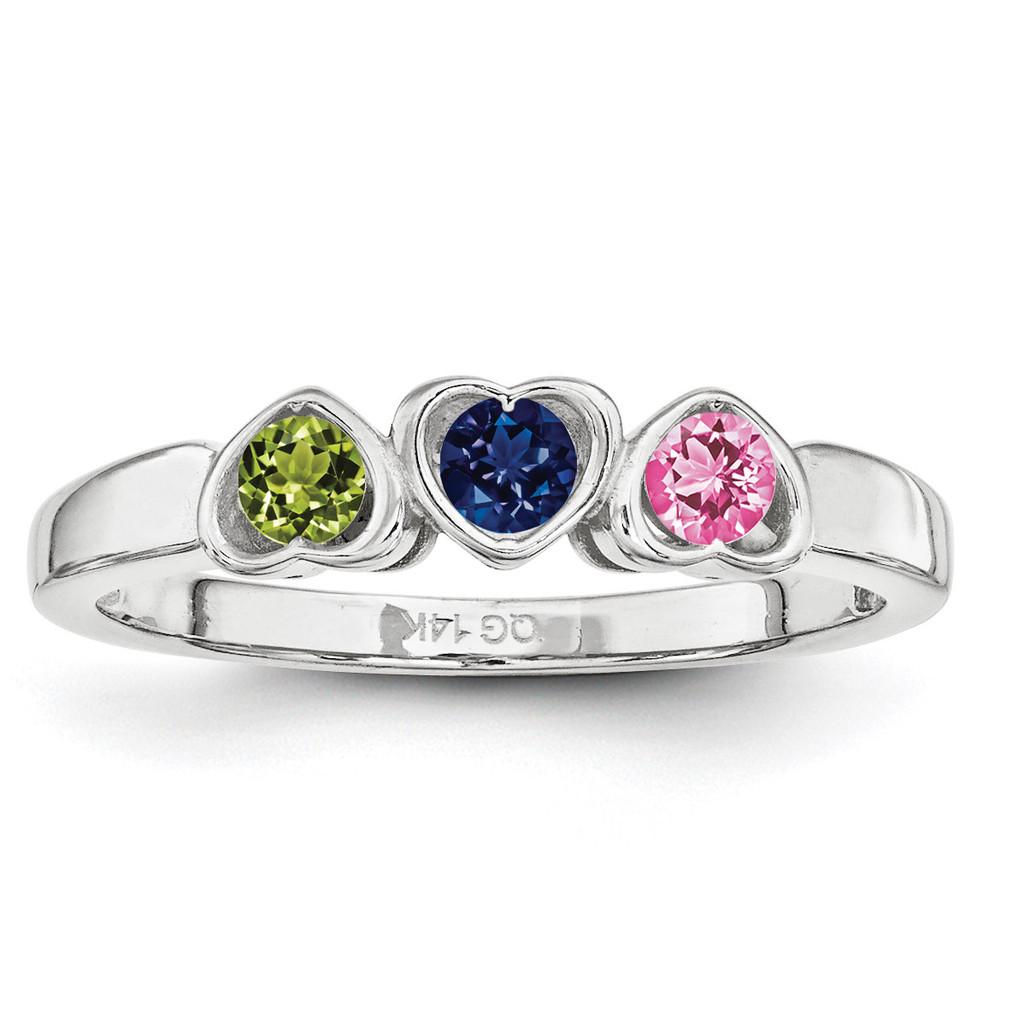 14K White Gold Synthetic Ring Family & Mother MPN: XMR85/3WSY, UPC: 191101540608