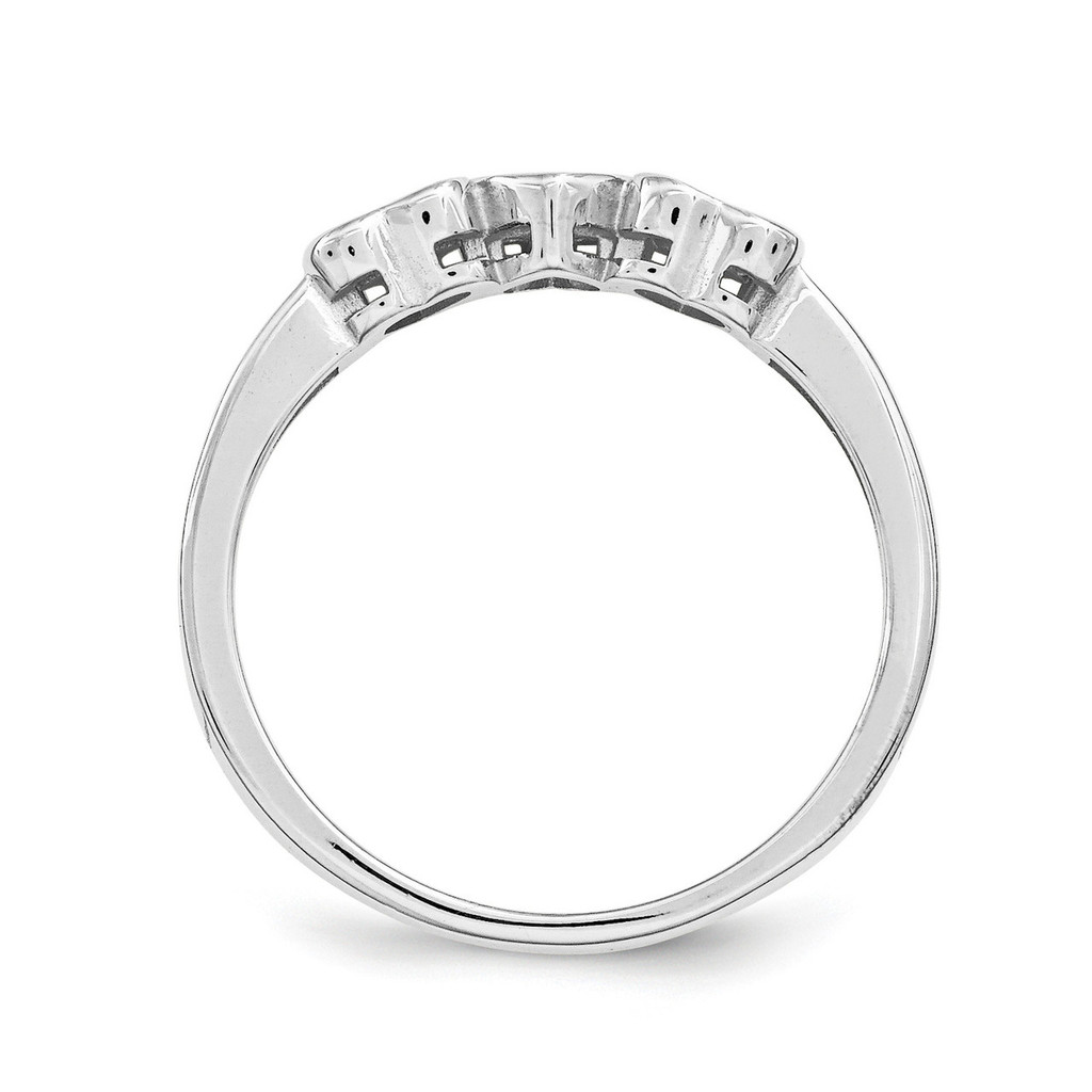 14K White Gold Synthetic Ring Family & Mother XMR85/3WSY