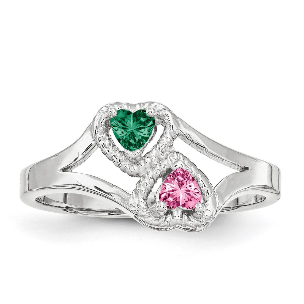 14K White Gold Genuine Ring Family & Mother MPN: XXMR64/2WGY, UPC: 191101545412