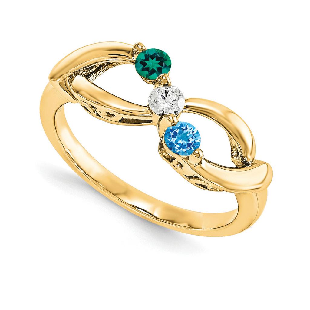14k Yellow Gold Diamond Ring Ring Family, MPN: YM1446-3AA
