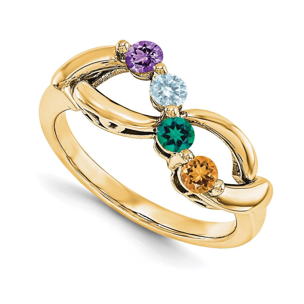14k Yellow Gold Diamond Ring Ring Family, MPN: YM1446-4AA
