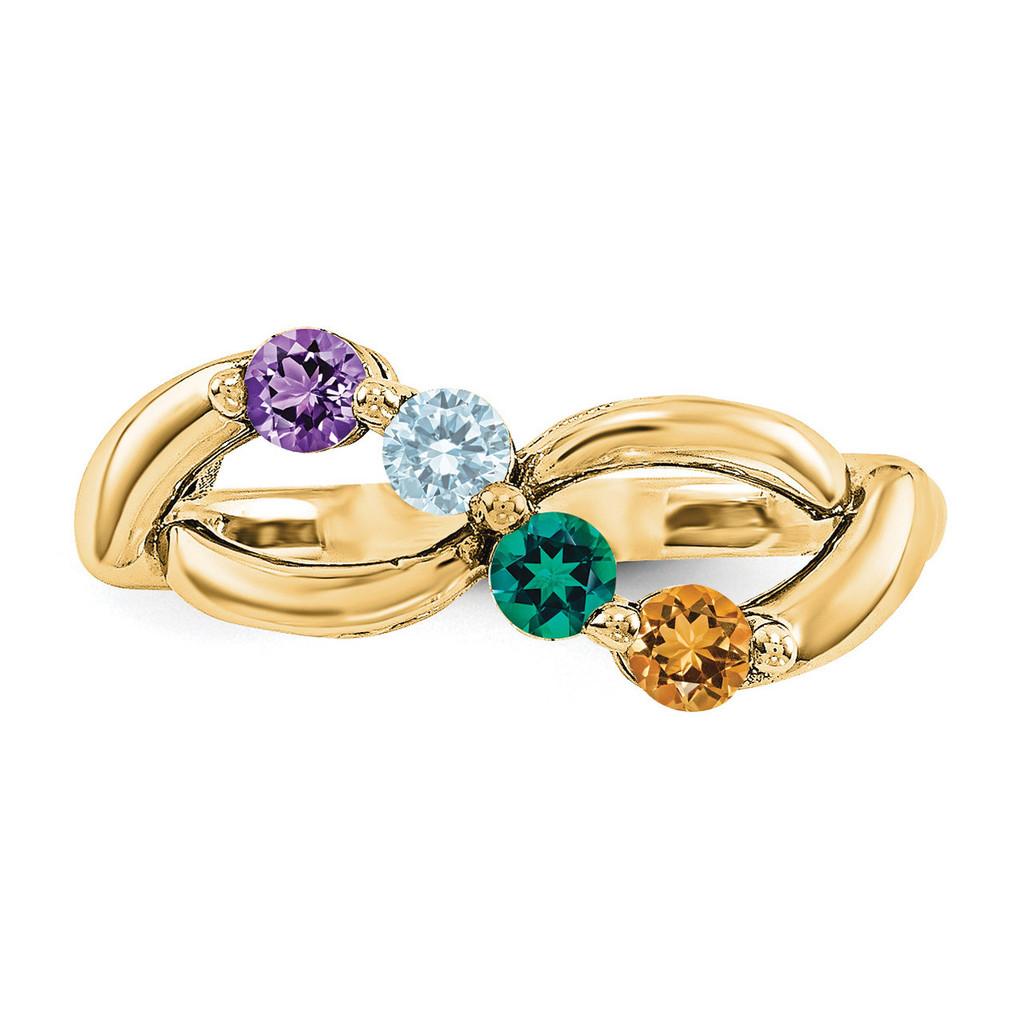 14k Yellow Gold Diamond Ring Ring Family YM1446-4AA