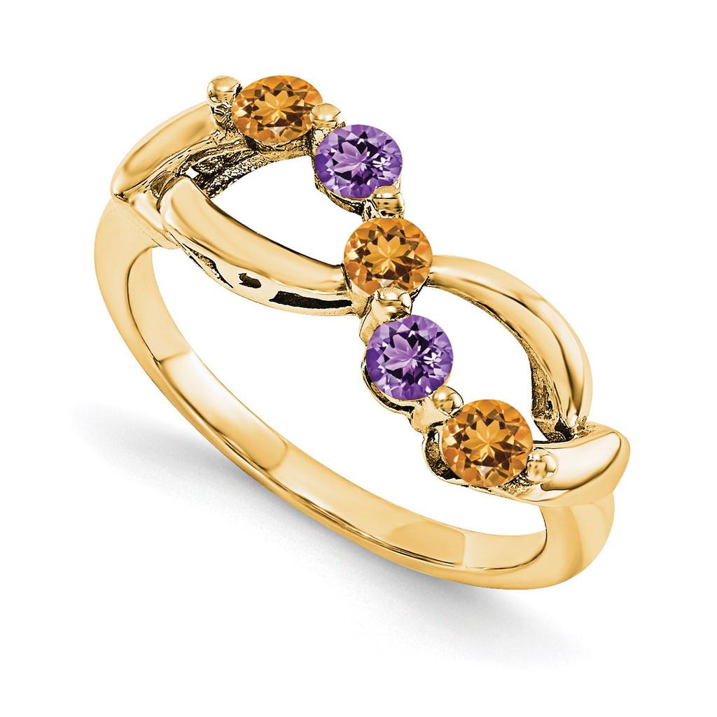 14k Yellow Gold Diamond Ring Ring Family, MPN: YM1446-5AA