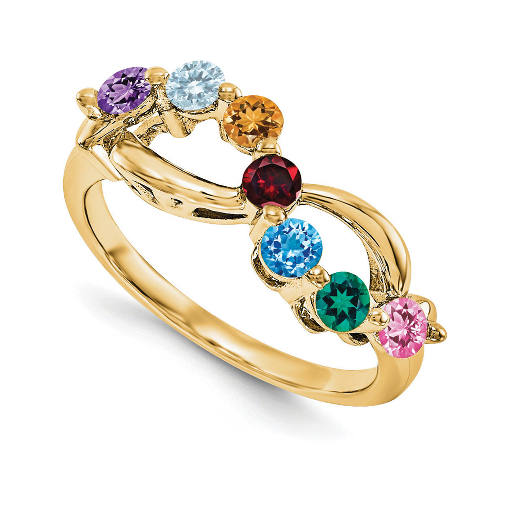 14k Yellow Gold Diamond Ring Ring Family, MPN: YM1446-7AA