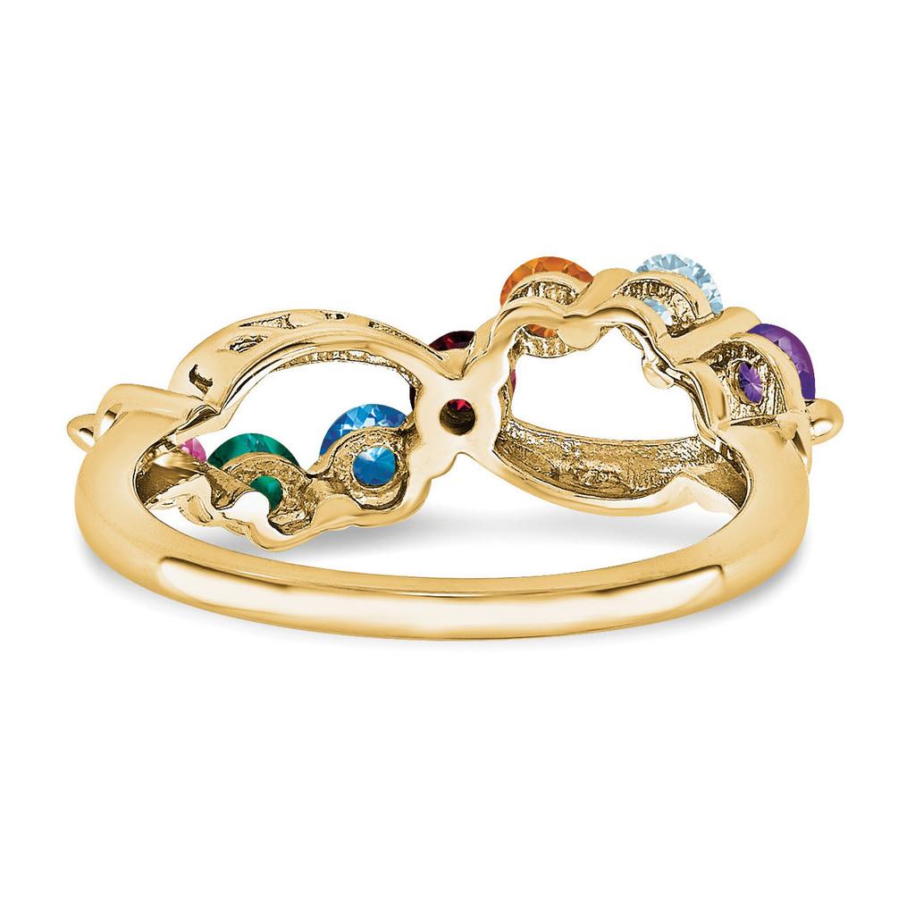 14k Yellow Gold Diamond Ring Ring Family YM1446-7AA