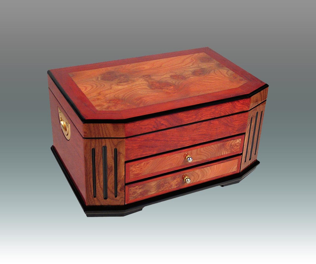 Tizo Extra Roomy Wooden 2 Drawer Jewelry Box, MPN:  FS0229BX