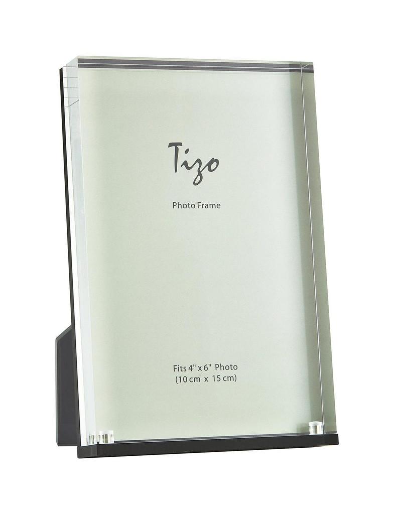 Tizo Black Tick Glassy Picture Frame 4 x 6 Inch, MPN:  HA158BK46