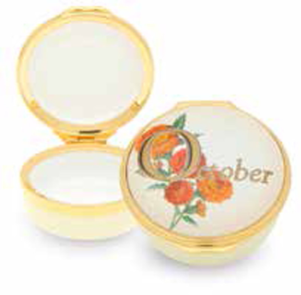 Halcyon Days October Enamel Box, MPN: ENMOC0501G
