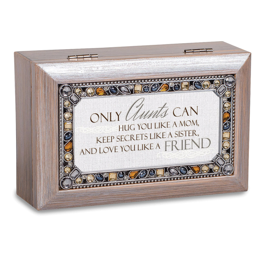 Aunts Music Box Jeweled Woodgrain Resin, MPN: GM18598, UPC: 633303847371