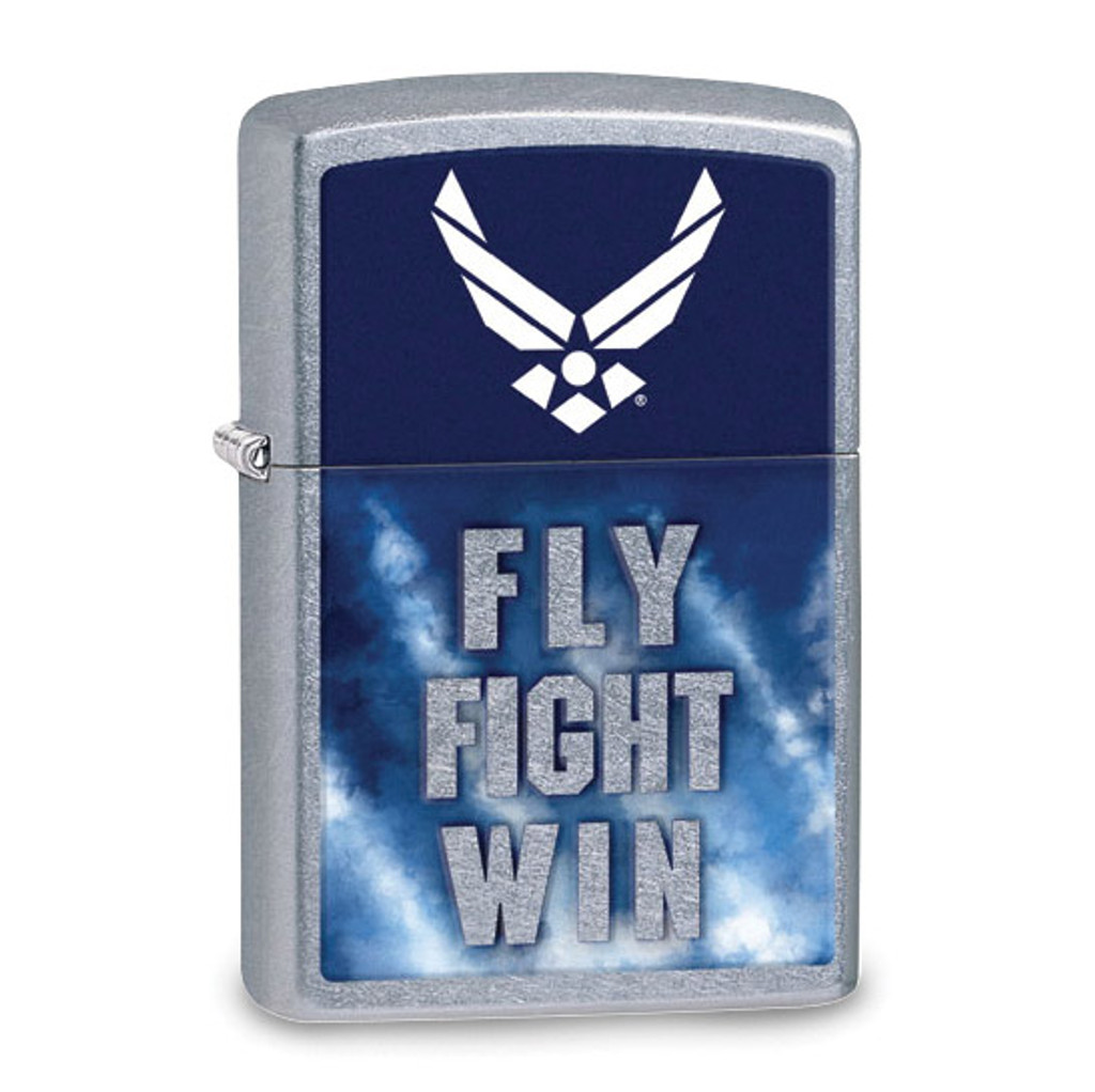 Zippo Street Chrome US Air Force Fly Fight Win Lighter GM20873