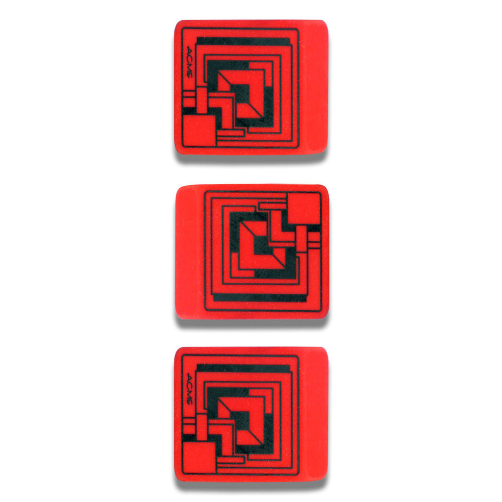 ACME Studio Ennis House Eraser 3 Pack MPN: PREFFLW53ES