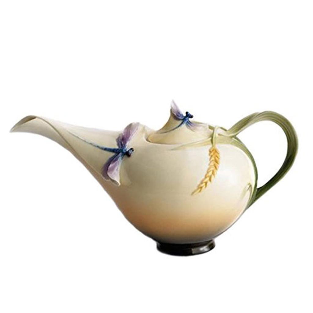 Franz Porcelain Dragonfly Teapot, MPN: FZ00117, UPC: 837009000805