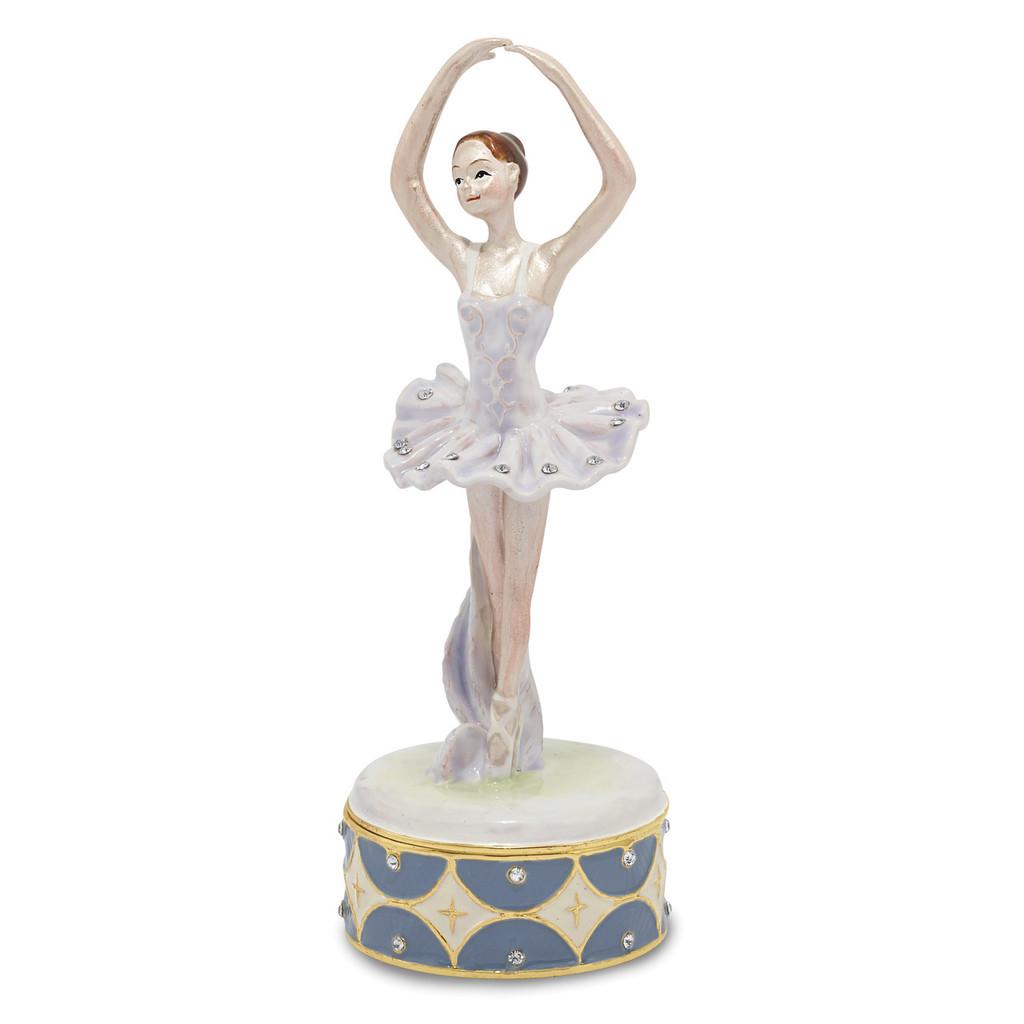 By Jere Ballerina Trinket Box Enamel on Pewter, MPN:  BJ3062, UPC: 191101595943