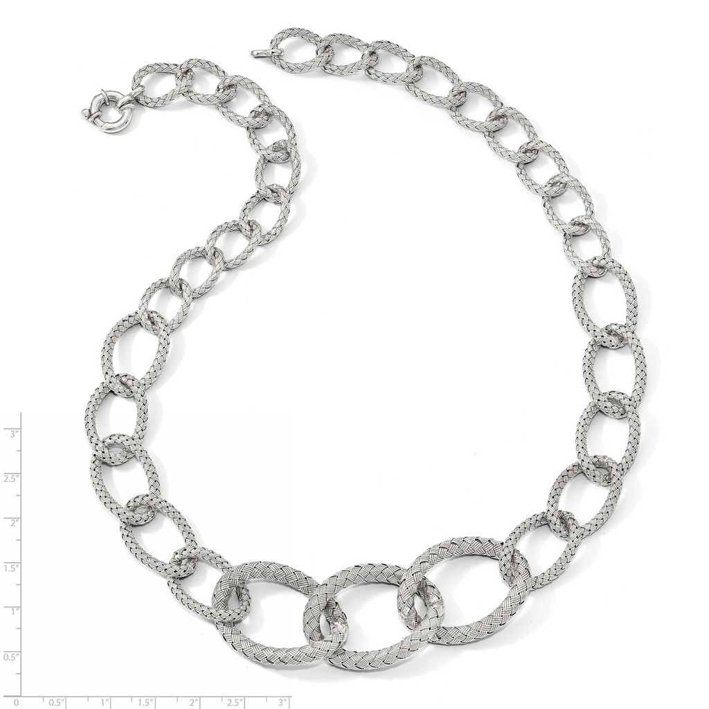 Woven Necklace Sterling Silver QLF844-22