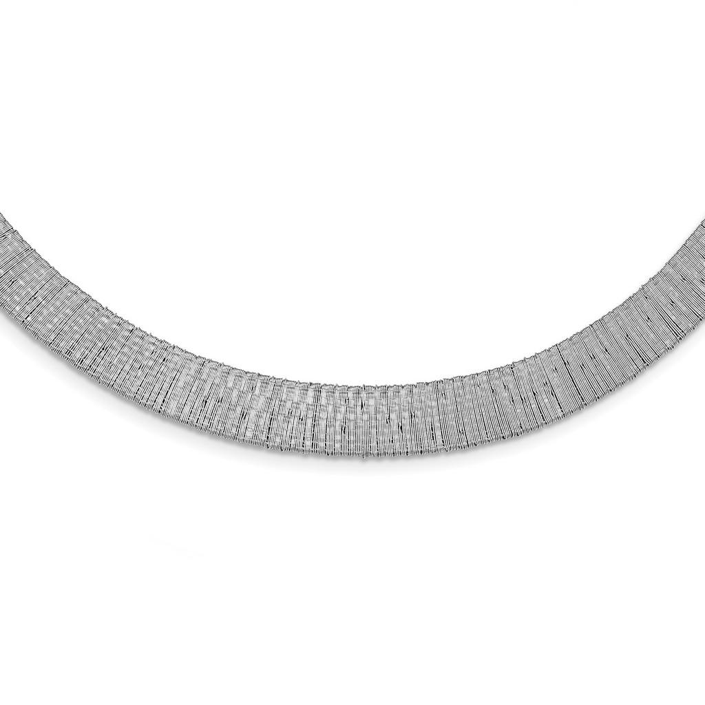 Leslie's Mesh Necklace Sterling Silver Polished ,MPN: QLF919-18 UPC: 191101852060