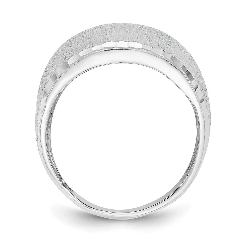 Size 8 Radiant Essence Ring Sterling Silver Rhodium Plated QLR114-8